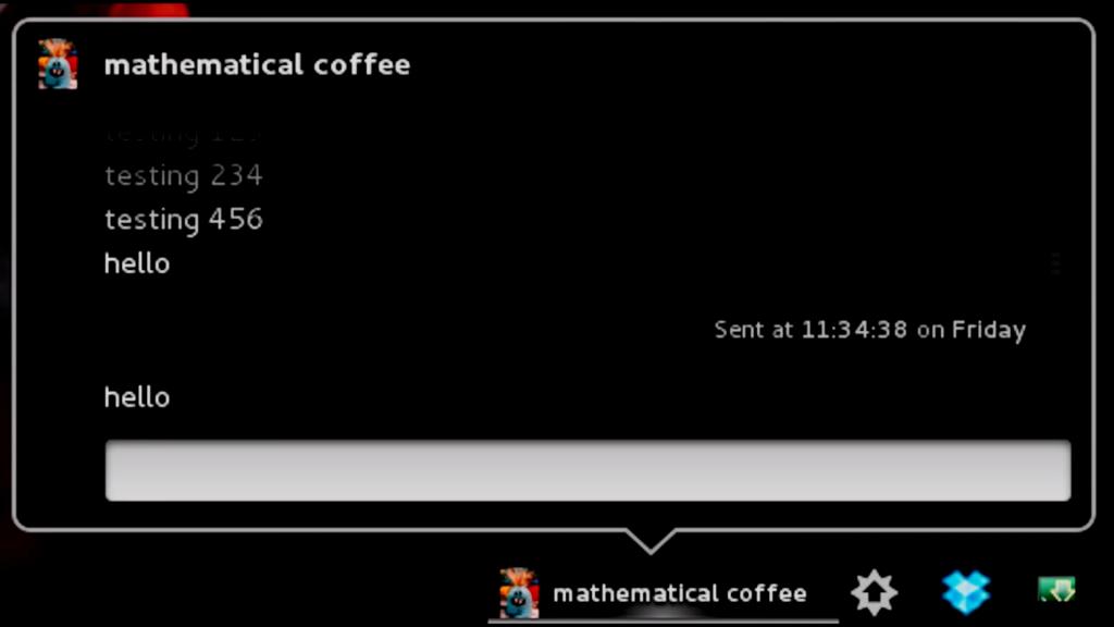 Imagem de um chat