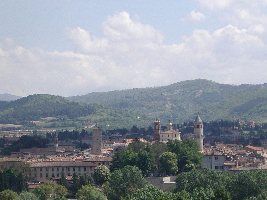 Imagem de parte da Città di Castello vista do alto